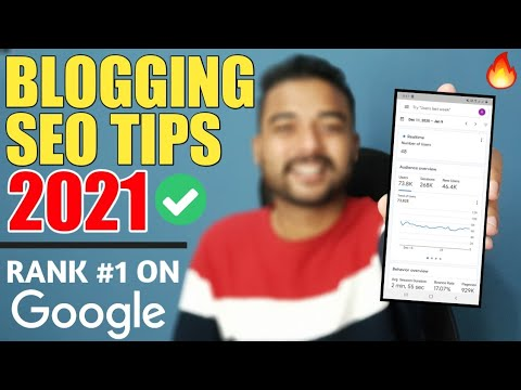 SEO for Beginners: Rank #1 on Google in 2021 | 5 SEO TIPS for Blogger & WordPress in Hindi